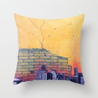 denver Throw Pillows featuring denver by Saari Shelhart