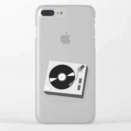 Turntable Illustration Clear iPhone Case