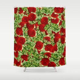 Painting the Roses Red Shower Curtain
