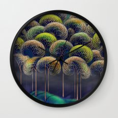 Forest in Fall Wall Clock