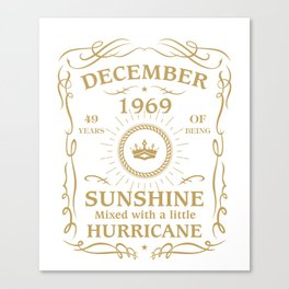 December 1969 Sunshine mixed Hurricane Canvas Print