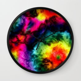 Peace Love and C19 ~ Please Stay 6 Feet Away Wall Clock