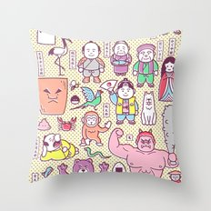 Mukashi-Banashi / Japanese Folk Tales Throw Pillow