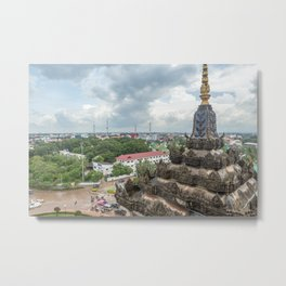 View of the City from Patixai III, Vientiane, Laos Metal Print
