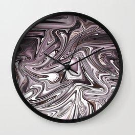 Abstract pink liquid painting Wall Clock