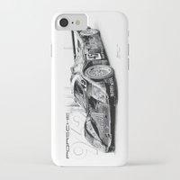 porsche iPhone & iPod Cases featuring Porsche 962 by sesven