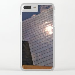 A Sun Trapped in Glass. Clear iPhone Case