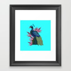 Cannabis Peacock Framed Art Print