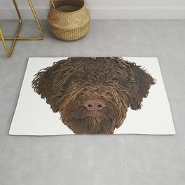 Dog Truffle Dog Italian treasure discoverer sticky beggar Rug