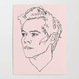 Harry Styles Drawing Poster