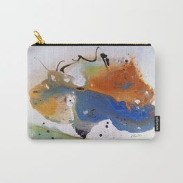 Blue And Orange Fluid Carry-All Pouch