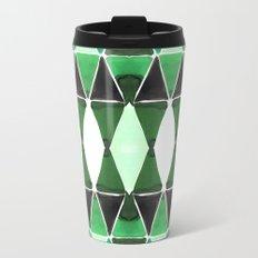Art Deco Triangles Green Travel Mug