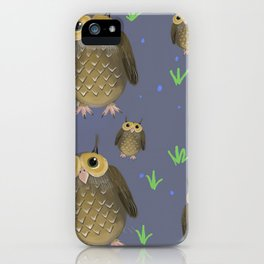 Poster Background | Cute Owls Patterns iPhone Case