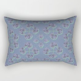 Cranesbill Purple Rectangular Pillow