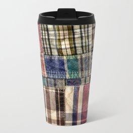 Patchwork Plaid / Tartan with stitch image Travel Mug