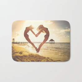 heart beach holiday 5 Bath Mat