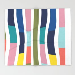 Pantone Colors Geometric Throw Blanket