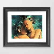 Be castaway into your arms Framed Art Print