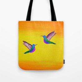 Hummingbird Sunset Tote Bag