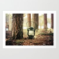 camping Art Prints featuring camping by katelyndee