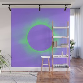 Solar Eclipse in Purple and Green Colors Wall Mural