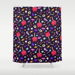 Halloween Candy Pattern Shower Curtain