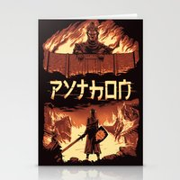 monty python Stationery Cards featuring Attack on Python by Dave Collinson