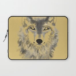 Wolf Face - Gold Laptop Sleeve