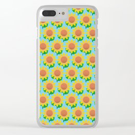 Sunflower Pattern_F Clear iPhone Case