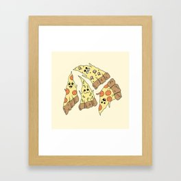 Ghost Pizzas Framed Art Print