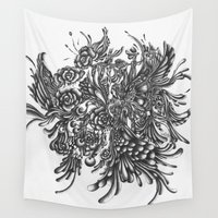 wings Wall Tapestries featuring Wings by Samiahdagher