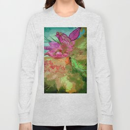 Abtract leaves and flower Long Sleeve T-shirt