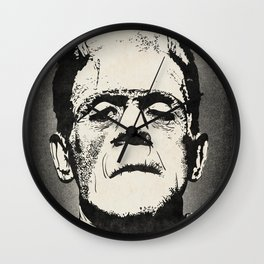 Frankenstein (B&W) Wall Clock