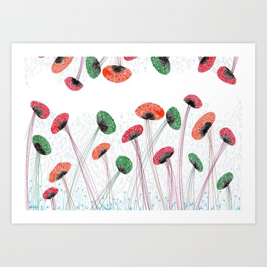 The Mushroom Art Print