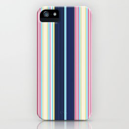 Summer Bold Stripes iPhone Case