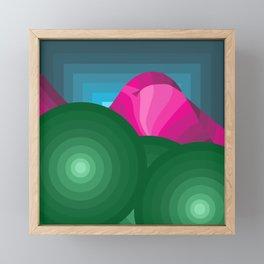 The Hills Are Breathin' Framed Mini Art Print
