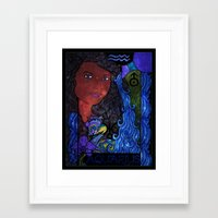 aquarius Framed Art Prints featuring Aquarius by Laura Jean