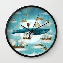 Ocean Meets Sky - revised Wall Clock