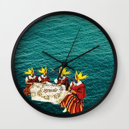 madeira embroidery Wall Clock