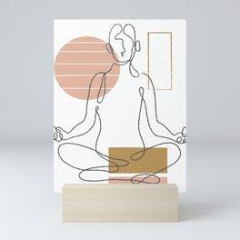 Abstract Yoga Pose Mini Art Print