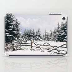 Gate and trees covered in heavy snow. Matterdale End, Cumbria, UK. iPad Case