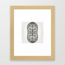 Fused faces Framed Art Print