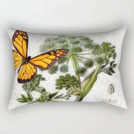 Angelica Herb Botanical Rectangular Pillow