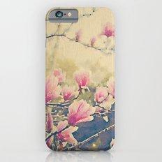 Magnolia Tulip Tree in Spring -- Painterly in Vintage Tones iPhone 6s Slim Case