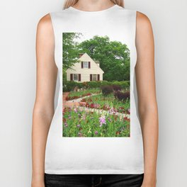 Cottage Garden - Colonial Williamsburg Biker Tank