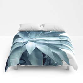 Bursting into life - teal Comforters