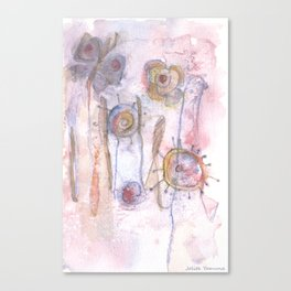 The Meadow - Abstract Flowers Canvas Print