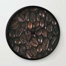 Coffee beans texture Wall Clock