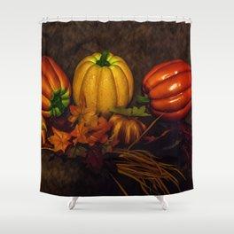 Autumn Pumpkins Shower Curtain