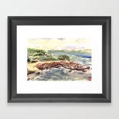 cape red beach Framed Art Print